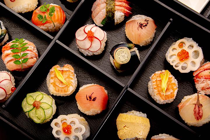綾部の和食レストラン ゆう月のケータリング お祝いパーティー 手まり寿司