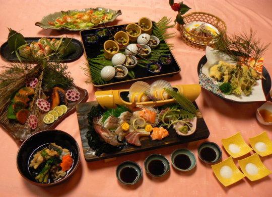 春彩創作皿+季節魚の姿造り