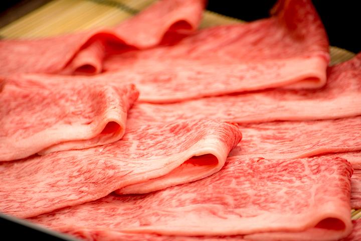 綾部の料亭 ゆう月 素材 牛肉 丹波牛 すき焼き