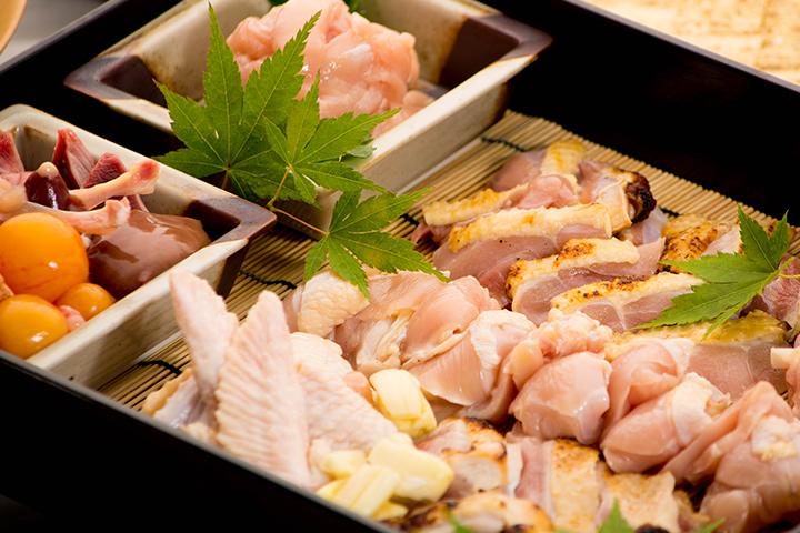 綾部の料亭 ゆう月 素材 鶏肉 上林鶏