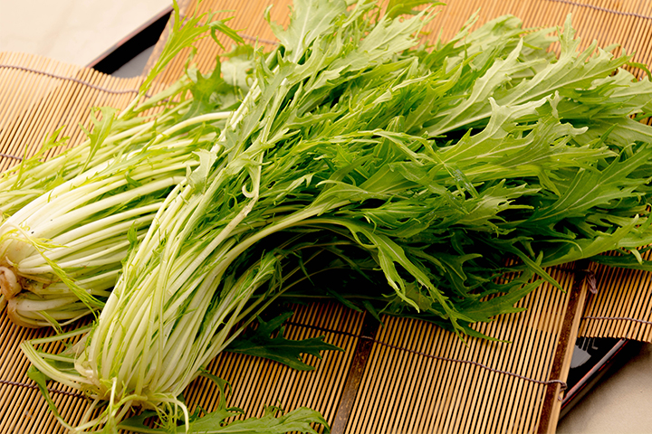 綾部の料亭 ゆう月 冬の素材の画像 京野菜 水菜