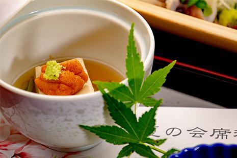綾部のレストラン ゆう月 会席料理 法事 初盆 京野菜 ごま豆腐