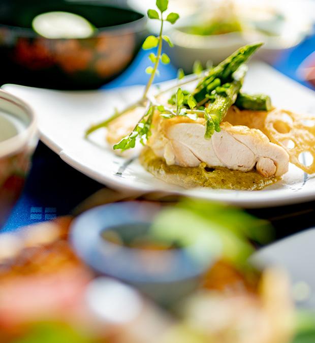 綾部市の和食レストラン ゆう月の5月6月の会席料理