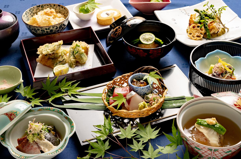 綾部市の和食レストラン ゆう月の6月の会席料理