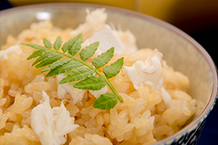綾部の料亭 ゆう月 5月の会席料理 鯛めし 炊き込みご飯