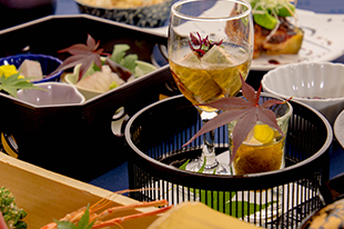 綾部の料亭 ゆう月 5月の会席料理 もずく 鰻の蒲焼き うざく