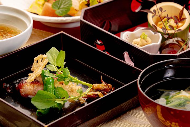綾部の和食レストラン ゆう月の冬の会席料理 鶏料理 上林鶏の味噌漬け