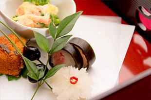 冬の会席料理 新年会 黒豆 前菜
