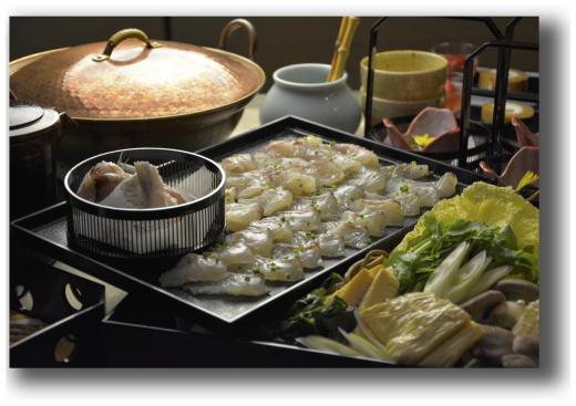 鯛しゃぶと山菜のコース