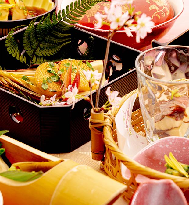 綾部の料亭 ゆう月の春の料理 たけのこ 会席料理