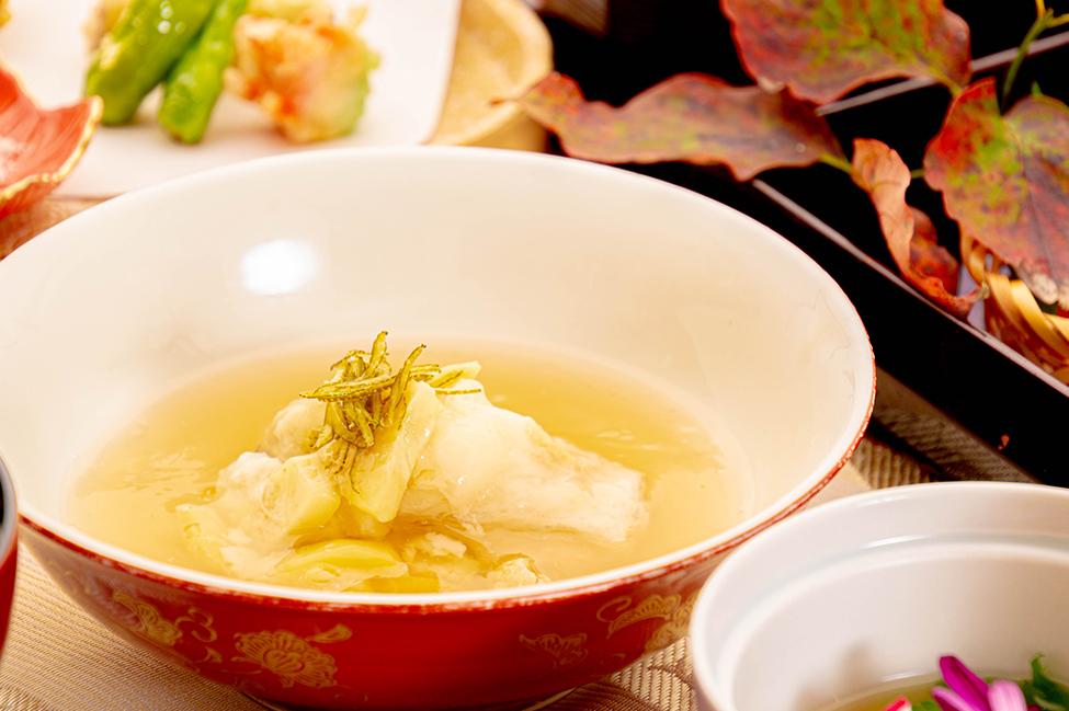 綾部の和食の店 ゆう月 秋の会席料理 蒸し物 丹波栗