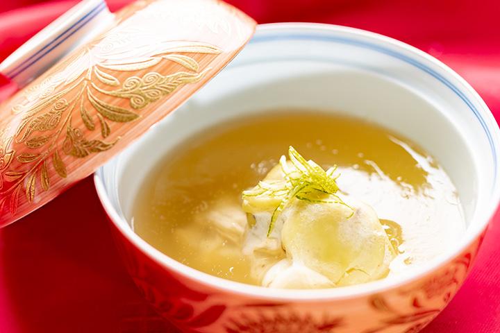 綾部市の和食レストラン ゆう月の秋の会席料理 丹波蒸し