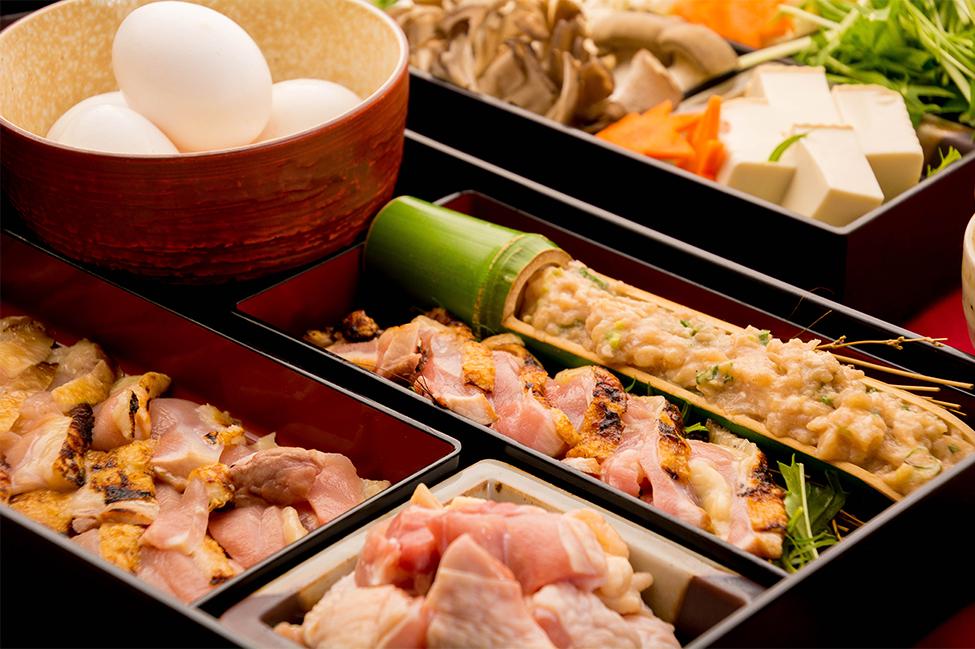 綾部の料亭 ゆう月 冬の鍋料理 団体向け飲み放題付きお料理プラン 上林鶏のすき焼き