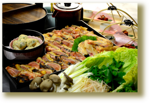 上林鶏のすき焼きコース