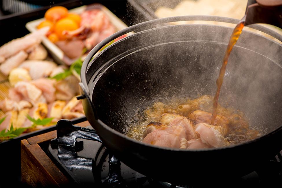 綾部の料亭 ゆう月 鍋料理 上林鶏のすき焼き 忘年会 歓迎会