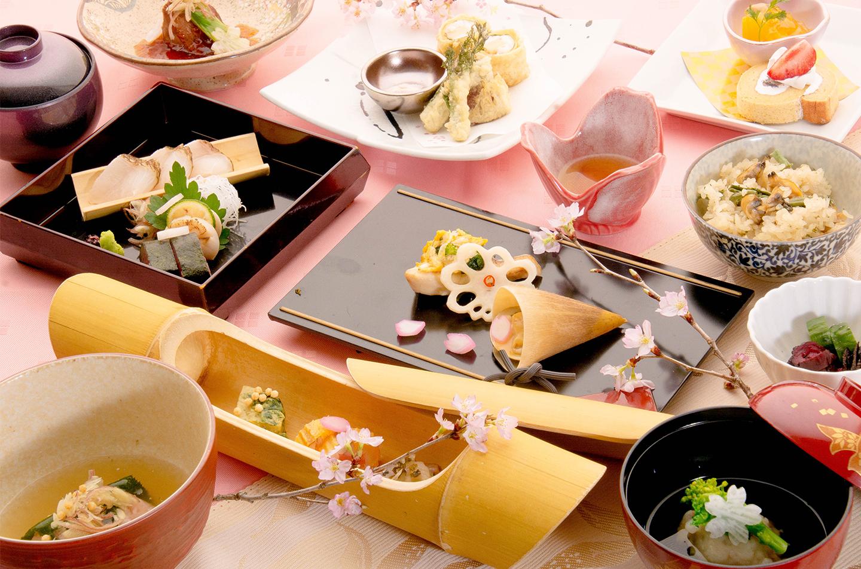 綾部の料亭 ゆう月 歓迎会 送別会 お花見に最適な春の会席料理