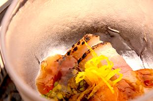 綾部の料亭 ゆう月 春の会席料理 酢の物 合鴨料理 ジビエ