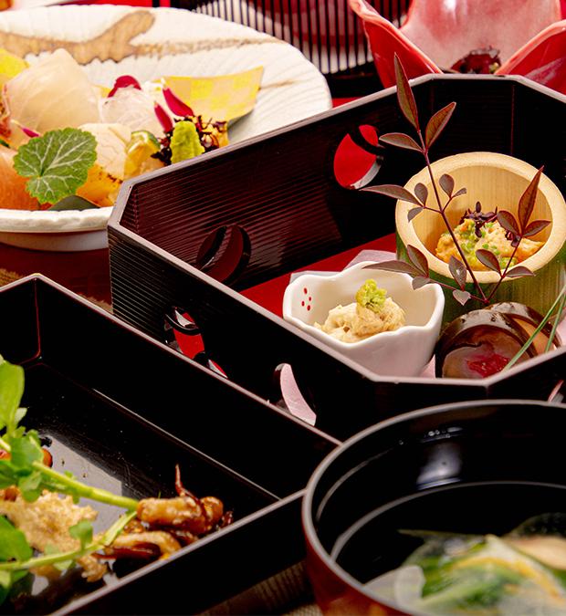 綾部の料亭 ゆう月 新年会用の冬の会席料理の画像