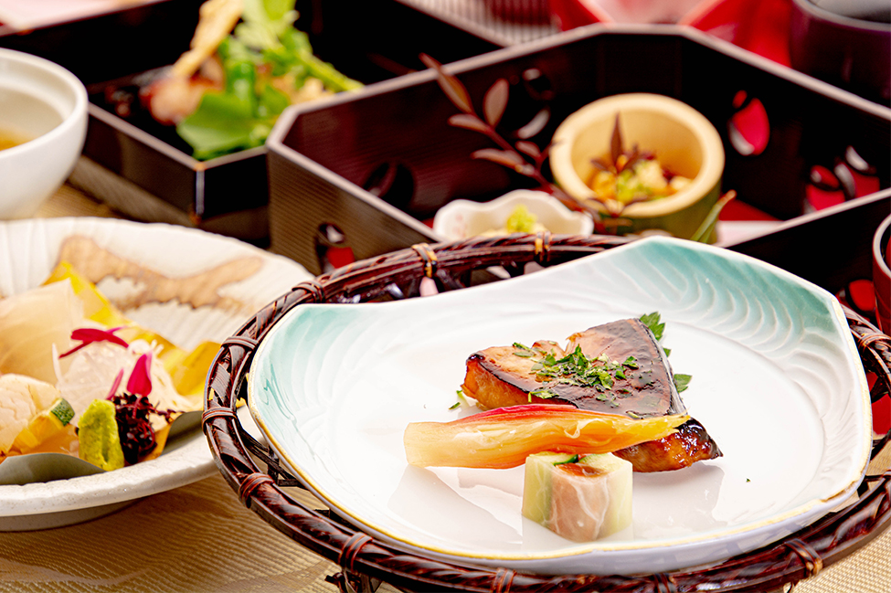 綾部の和食の店 ゆう月の冬の会席料理 焼き物 ブリの照り焼き