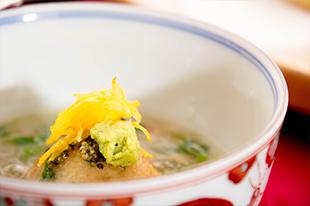 冬の会席料理 京野菜 海老芋 蟹あんかけ