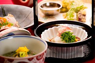 1月の会席料理 炙り鰆 自家製ポン酢 菜の花