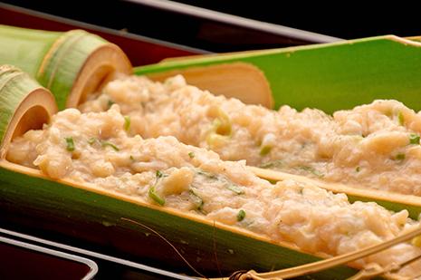 綾部の料亭 ゆう月 冬の鍋料理 団体向け飲み放題付きお料理プラン 上林鶏のつみれ鍋