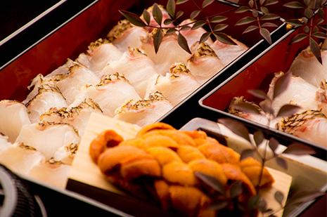 綾部の料亭 ゆう月 冬の鍋料理 団体向け飲み放題付きお料理プラン うにしゃぶ