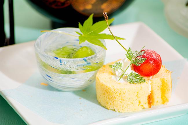 京都 綾部 和食 ゆう月 会席料理 懐石料理 法事 お祝い 祭り ロールケーキ さくらんぼ