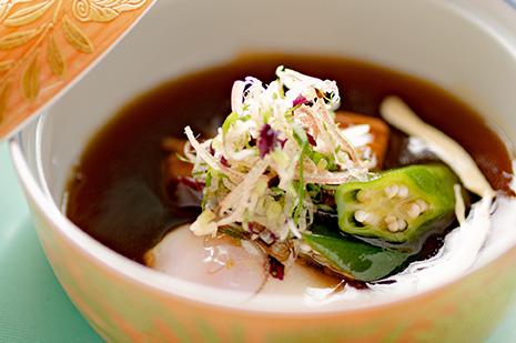 綾部 和食レストラン 夏の会席料理 京丹波高原豚 豚の角煮