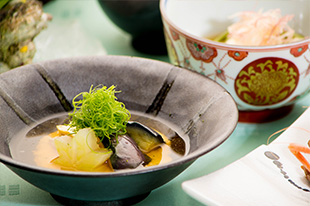 京都 綾部 和食 ゆう月 会席料理 懐石料理 法事 お祝い 祭り 京野菜 賀茂茄子 湯葉 ジュレ