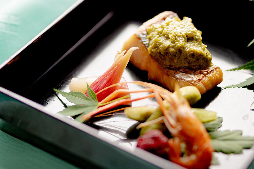 綾部 和食レストラン 夏の会席料理 焼き魚