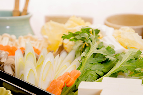 綾部の料亭 ゆう月 冬の鍋料理 団体向け飲み放題付きお料理プラン 寄せ鍋 海鮮鍋