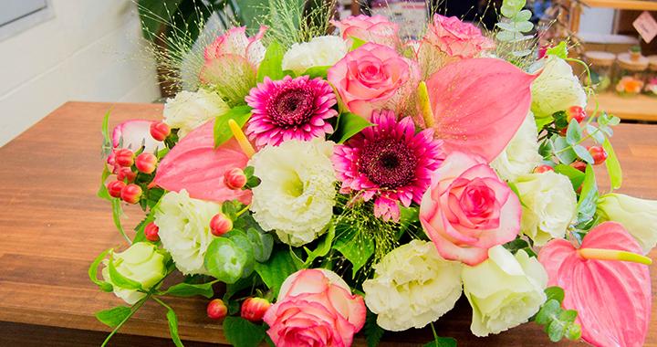 綾部 ゆう月の周辺案内 おすすめの店 花屋 ゆいまーる テーブル装花 卓上装花