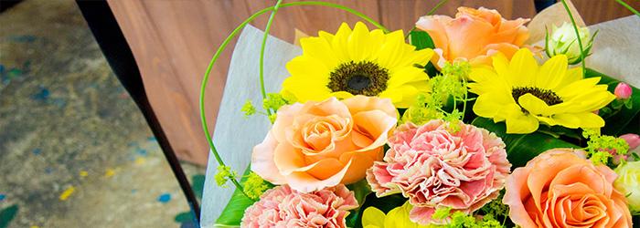 綾部 会席 ゆう月 花屋 ゆいまーる お祝い 誕生日 プレゼント アレンジ