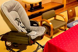 綾部の料亭 ゆう月 座席 子供用 赤ちゃん用 ベビーラック